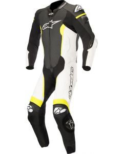 ALPINESTAR Leather Missile Tech Air Suit Black White Fluro Yellow - Motorcycle Suit
