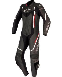 ALPINESTAR Ladies Leather Stella Motegi V2 1Pc Suit Black White Red - Ladies Motorcycle Suit