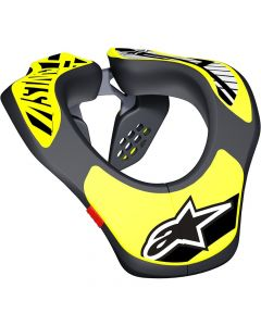 ALPINESTAR Yth Neck Support Os Black Fluro Yellow L/Xl  - Motorcycle Armour