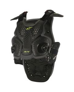 ALPINESTAR A4 Chest Armour Black Yellow  - Motorcycle Armour