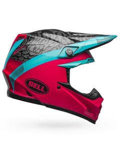 (CLEARANCE) Bell MOTO-9 MIPS CHIEF - BLK/PNK/BLU