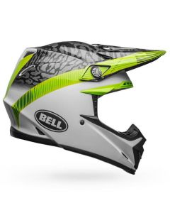 (CLEARANCE) Bell MOTO-9 MIPS CHIEF - BLK/WHT/GRN