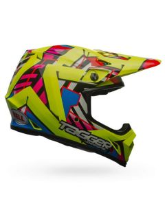 (CLEARANCE) Bell MX-9 MIPS DOUBLE TROUBLE | HI-VIS YELLOW