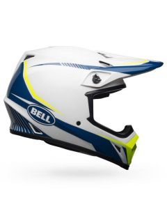 (CLEARANCE) Bell MX-9 MIPS TORCH - WHI/BLU/YEL