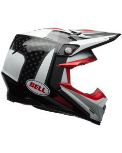 (CLEARANCE) Bell MOTO-9 FLEX VICE - BLK/WHI/RED