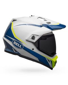 (CLEARANCE) Bell MX-9 ADVENTURE TORCH - WHI/BLU/YEL
