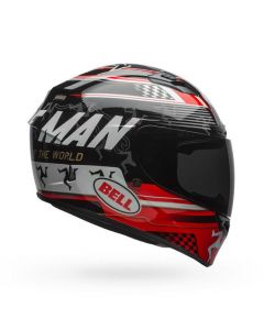 (CLEARANCE) BELL QUALIFIER DLX MIPS ISLE OF MAN 18 - GLO BLK/RED