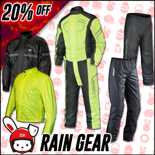 Rain protection gear for motorcycle riding